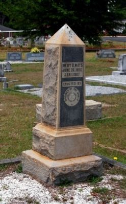 Medy D. Mays Tombstone image. Click for full size.