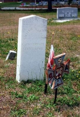William A. Davis Tombstone<br>Confederate<br>States Army image. Click for full size.