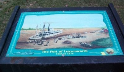 The Port of Leavenworth Marker image. Click for full size.