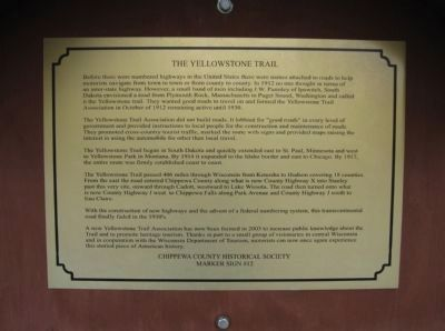 The Yellowstone Trail Marker image. Click for full size.
