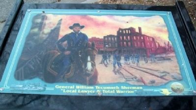 General William Tecumseh Sherman Marker image. Click for full size.