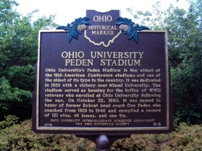 Ohio University Marker image. Click for full size.