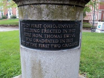 Ohio University Sundial Marker image. Click for full size.