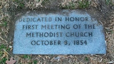 First Meeting of the Methodist Church Marker image. Click for full size.