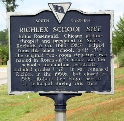 Richlex School Site Marker image. Click for full size.