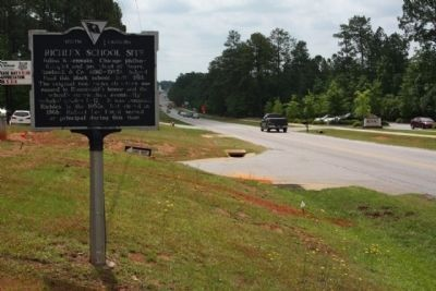 Richlex School Site Marker, looking south along Broad River Rd image. Click for full size.