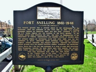 Fort Snelling 1861–1946 Marker image. Click for full size.