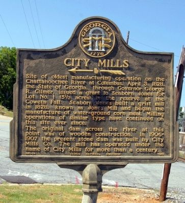 City Mills Marker image. Click for full size.