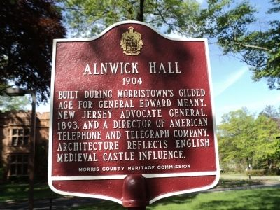 Alnwick Hall Marker image. Click for full size.