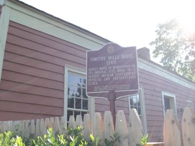 Timothy Mills House Marker image. Click for full size.