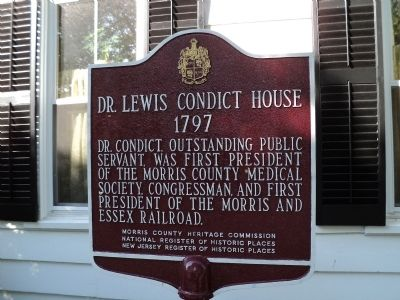 Dr. Lewis Condict House Marker image. Click for full size.
