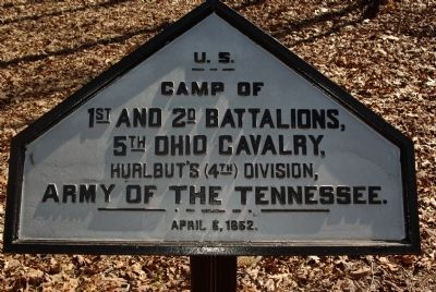 Camp of 1st and 2nd Battalions, 5th Ohio Cavalry Marker image. Click for full size.