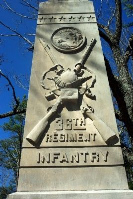 36th Indiana Infantry Marker image. Click for full size.