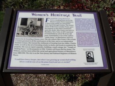 Fosterfields Living Historical Farm Marker image. Click for full size.