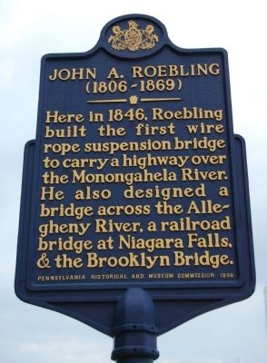 John A. Roebling Marker image. Click for full size.