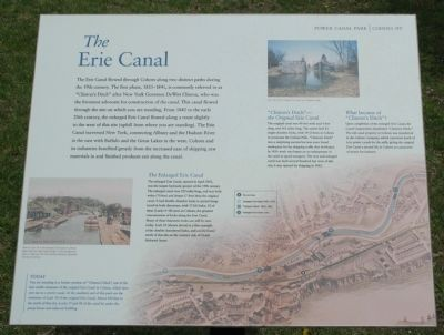The Erie Canal Marker image. Click for full size.