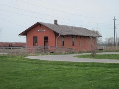 Historic Amana Colonies Train Depot image. Click for full size.