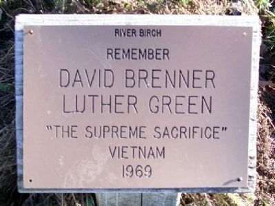 David Brenner and Luther Green Memorial image. Click for full size.