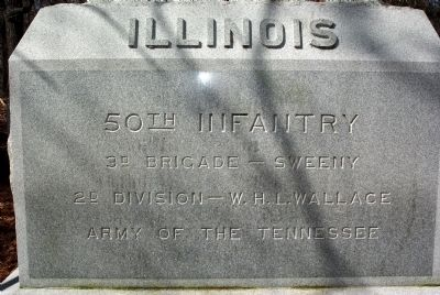 50th Illinois Infantry Marker image. Click for full size.