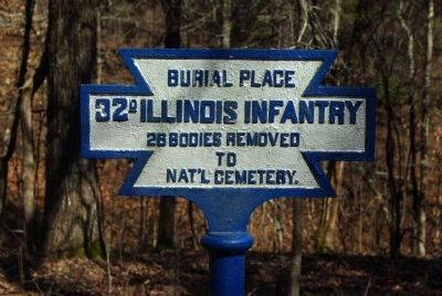 32nd Illinois Infantry Marker image. Click for full size.