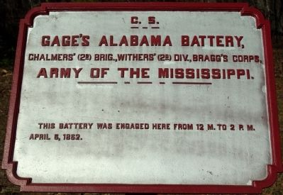Gage's Alabama Battery Marker image. Click for full size.