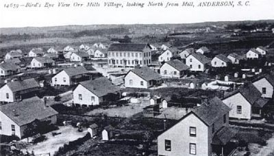 Bird-s Eye View of the Orr Mill Village<br>Looking North from Mill image. Click for full size.