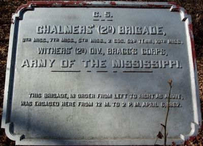 Chalmers' Brigade Marker image. Click for full size.