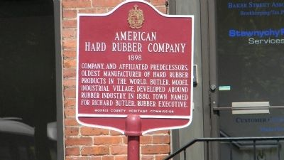 American Hard Rubber Company Marker image. Click for full size.