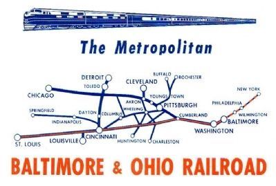 B&O Metropolitan Special Route Map image. Click for full size.