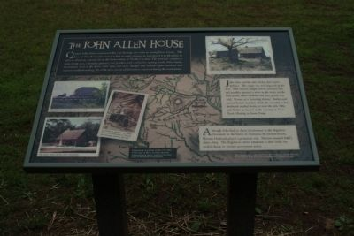 The John Allen House Marker image. Click for full size.