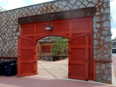 Anderson County Farmers Market Pavilion -<br>West (Rear) Entrance image. Click for full size.