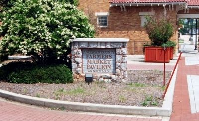 Anderson County Farmers Market Pavilion Sign image. Click for full size.