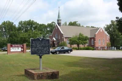 Bethlehem Church and Marker image. Click for full size.