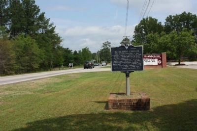 Bethlehem Church Marker, looking northward along Broad River Road (US 176) image. Click for full size.