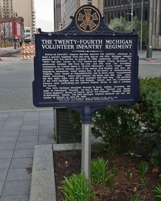 Twenty-Fourth Michigan Volunteer Infantry Regiment Marker image. Click for full size.