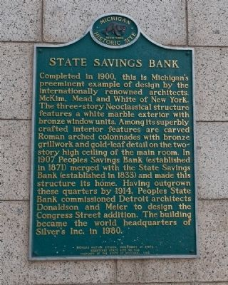 State Savings Bank Marker image. Click for full size.