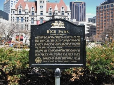 Rice Park Marker image. Click for full size.
