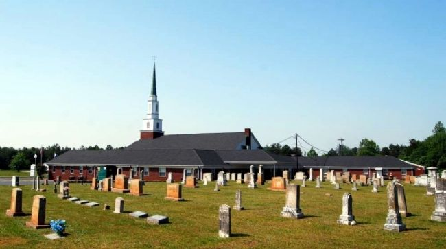 Arrowood Baptist Church and Cemetery image. Click for full size.