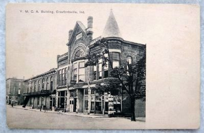 Old Postcard YMCA Crawfordsville Indiana image. Click for full size.
