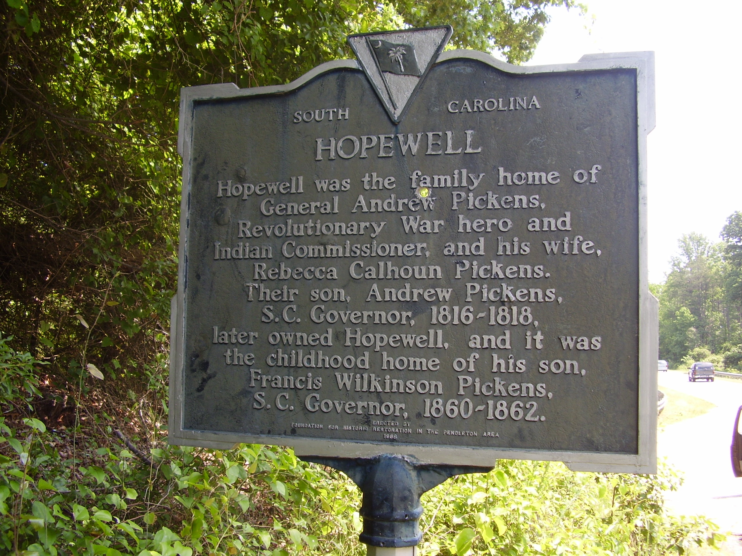 Hopewell / Hopewell Indian Treaties Marker - Front