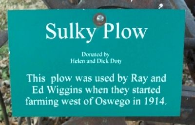 Sulky Plow Marker image. Click for full size.