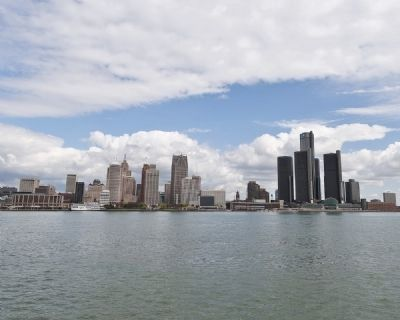 The Detroit River and the City of Detroit as Viewed from Windsor Canada image. Click for full size.
