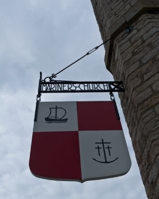 Mariners' Church (Sign above church office entrance) image. Click for full size.