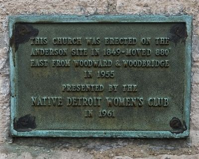 Mariners' Church Native Detroit Womens' Club Plaque image. Click for full size.