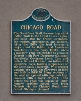 Chicago Road Marker image. Click for full size.