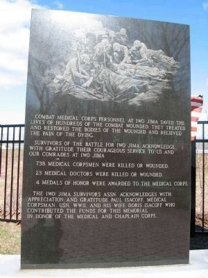 Monument to Medical Corps Personnel image. Click for full size.