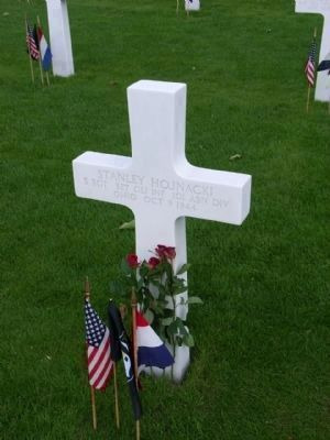 Grave Site of Stanley Hojnacki at the Netherlands American Cemetery in Margraten image. Click for full size.