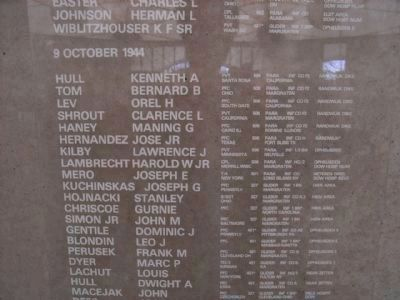 Rememberance Wall in Dutch Museum in Groesbeek image. Click for full size.