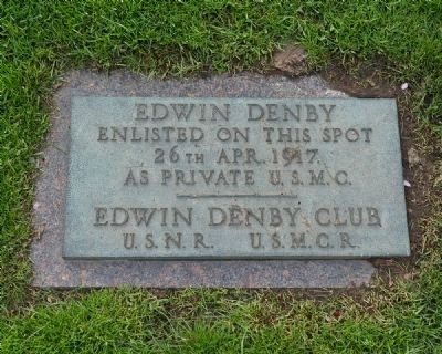 Edwin Denby Enlistment Marker image. Click for full size.