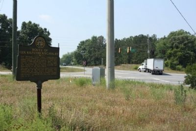 Route of Gen. Kilpatrick's Cavalry Marker Irwinton Road (US 441)(Ga 29) at junction with Ga 243 image. Click for full size.